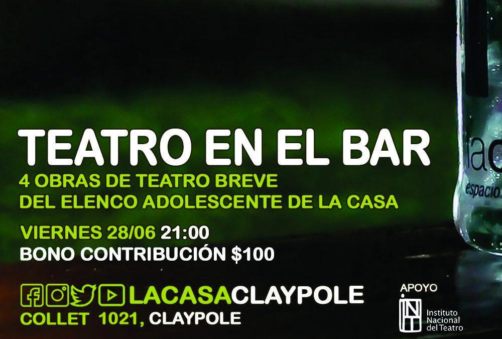 Teatro Breve por Adolescentes en el Bar Cultural