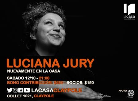 Luciana Jury en el 8° aniversario de LA CASA