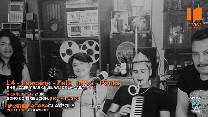 El grupo L4 en vivo en el Café y Bar de LA CASA